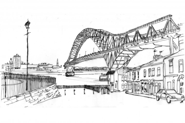 Jubilee Bridge Drawing