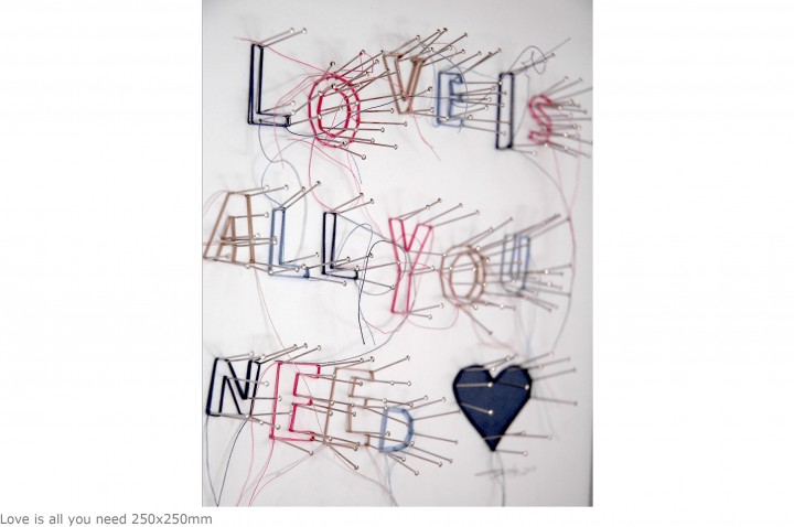 Love is all you need 250x250mm