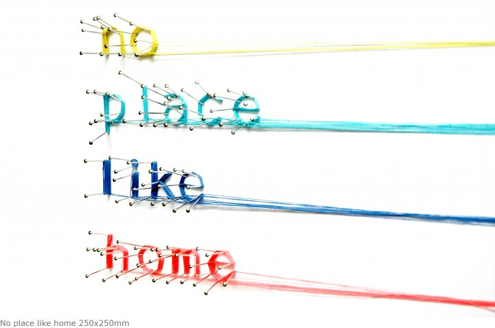 No place like home 250x250mm