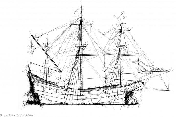 Ships Ahoy 800x520mm