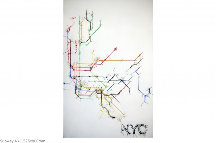 Subway NYC 525x800mm